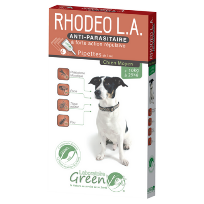 RHODEO chien 10 à 25 kg pipette